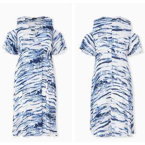 TORRID Blue Tie Dye Gauze Wrap Dress {T20}